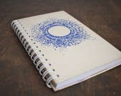 """Spiral Notebook Tartuensis College """"Moon"""", Upcycled from Old Book Covers"""