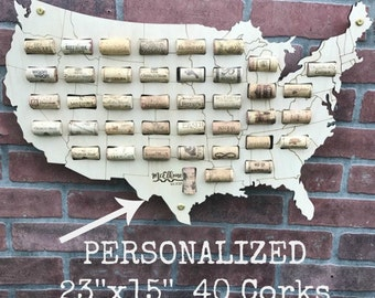 USA Wine Cork Map,Wine Cork Display,Wine Cork Holder,Wine Cork Collector,Wine Cork Art,Wine Cork Home Decor,Wine Gift, Wine Cork Sign, Corks