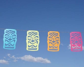 Tiki Party Garland   Luau Party Banner