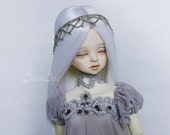 Grey Princess OOAK dress set clothing clothes for bjd msd mnf minifee dollfie dolls size fantasy lace style