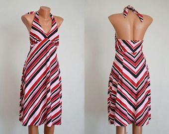 Vintage BACKLESS French Sundress, size M-L /36-38/