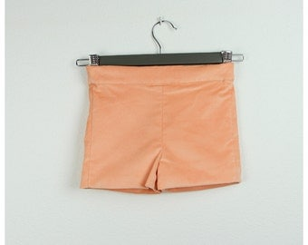 Peach velvet shorts - Other colors available
