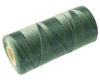 15 Meters Nylon Thread - Macrame Cord (not waxed) 0.8mm - Pale Green