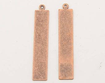 Metal Stamping Blanks Blank Charms Rectangle Charms Blank Charms Copper Blanks Bulk Charms Wholesale Charms Brass Blanks 50 pieces 41mm