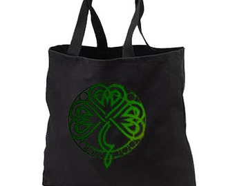 Irish Celtic Knot New Black Tote Bag Books Gifts Events