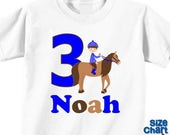 SALE Personalized Horseback Rider Pony Horse Riding Birthday Party Shirt Boys 1st First 2nd 3rd 4th 5th 6th Birthday Party Horses Ponies Rid