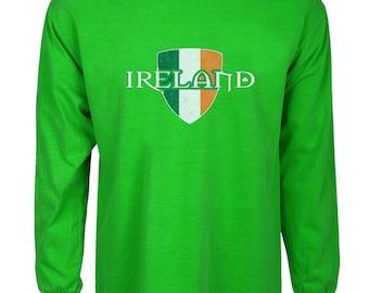 St Patricks day t-shirt Irish flag Ireland crest tee