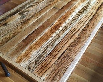 Rustic Coffee Table from Reclaimed Hardwood Floor