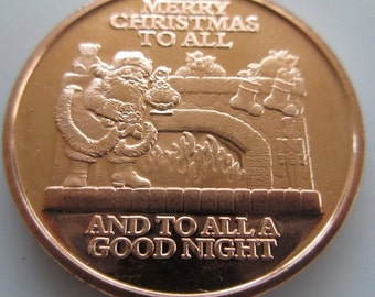 Merry Christmas Coin Etsy