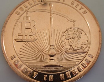 Bullion Not Bits 1 oz .999 Pure Copper Challenge Coin
