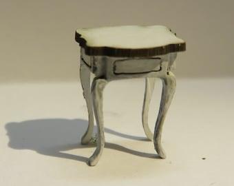 Dollshouse miniature quarter scale (1:48) kit to make a rococo side table.