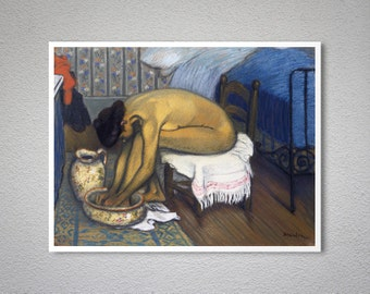 Le Bain Vintage Poster by Theophile Steinlen - Poster Paper, Sticker or Canvas Print