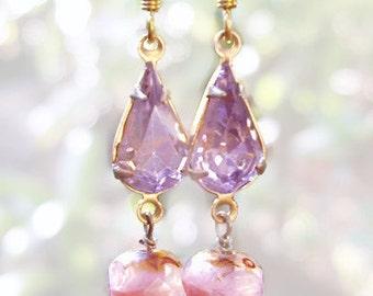 Pretty in Pink - Crystal earrings