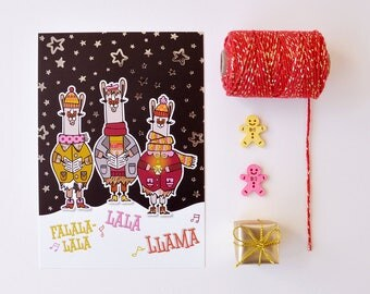 Holiday greeting card 'FalalaLlama'