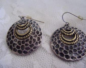 Vintage Silver Tone Pierced Earrings