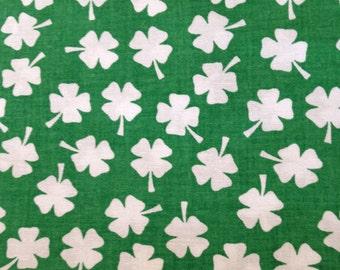 Shamrock Fabric, Lucky 4 Leaf Clover, Quilting Fabric, St. Patricks Day Fabric, By Joann Fabrics, 2 Yards