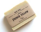 French Yellow Clay Soap - Detox Soap, All Natural Soap, Natural Soap Bar, Vegan Soap, Unscented Soap, Homemade Soap, Cold Process Soap, Soap
