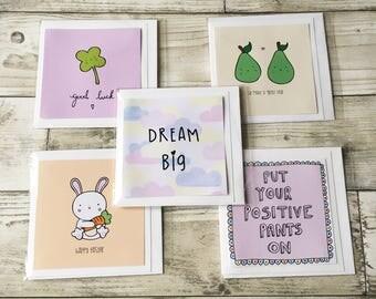 SALE Greeting Cards Various Designs Unicorn Card Cute Card Llama Card Funny Card Novelty Card