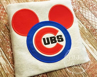 Custom Cubs embroidered Mouse Vacation Shirt for the Family! 879 boy