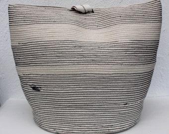 "The ""100"" Oversize Rope basket // Messenger bag // laundry bag // beach bag // catchall // storage basket // home storage"