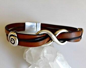 Mens leather bracelet, infinity bracelet, mens bracelet, leather bracelet, mens jewelry, friendship bracelet, mens infinity, boyfriend gift