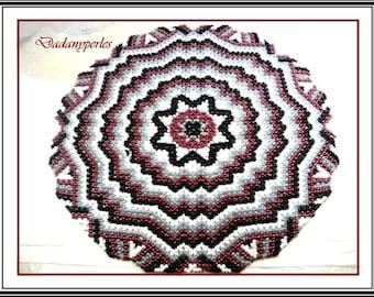 pattern bead weaving doily ZIG-ZAG