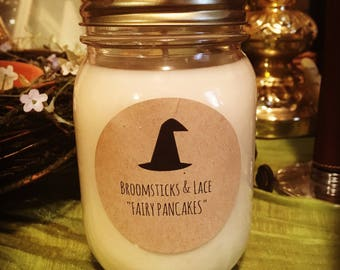 Fairy Pancakes 14oz Soy Candle Maple Sugar and Blueberry