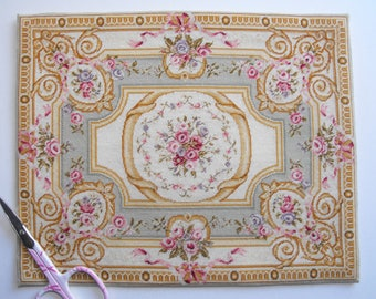 Aubusson doll's house carpet KIT in fine petitpoint
