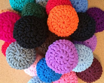 25 Nylon Net Scrubbies  Assorted Color Scrubbers