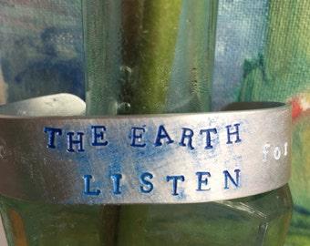 Bangle Shakespeare quote jewellery earth Shakespeare