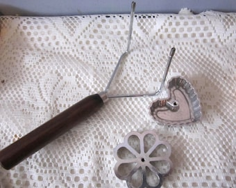 Double Rosette and Timbale Iron Cookies Double Iron