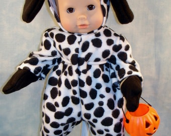 15 Inch Doll Clothes - Dalmatian Halloween Costume handmade by Jane Ellen to fit 15 inch baby dolls