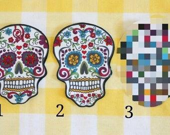Colorful Dia de los Muertos Patches