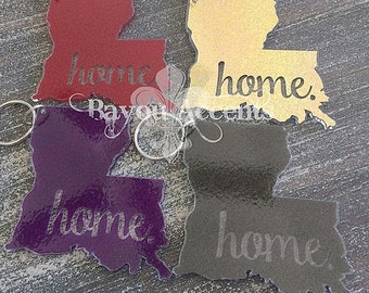 "3"" Louisiana Home Acrylic Keychain"