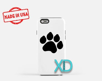 Paw Print iPhone Case, Dog Print iPhone Case, Paw Print iPhone 8 Case, iPhone 6s Case, iPhone 7 Case, Phone Case, iPhone X Case, SE Case
