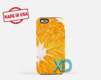 Orange iPhone Case, Citrus iPhone Case, Orange iPhone 8 Case, iPhone 6s Case, iPhone 7 Case, Phone Case, iPhone X Case, SE Case Protective