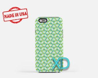 Green Tulip Phone Case, Green Tulip iPhone Case, Blue Flower iPhone 7 Case, Blue Flower iPhone 6 Case, Green Tulip Tough Case, Clear Case