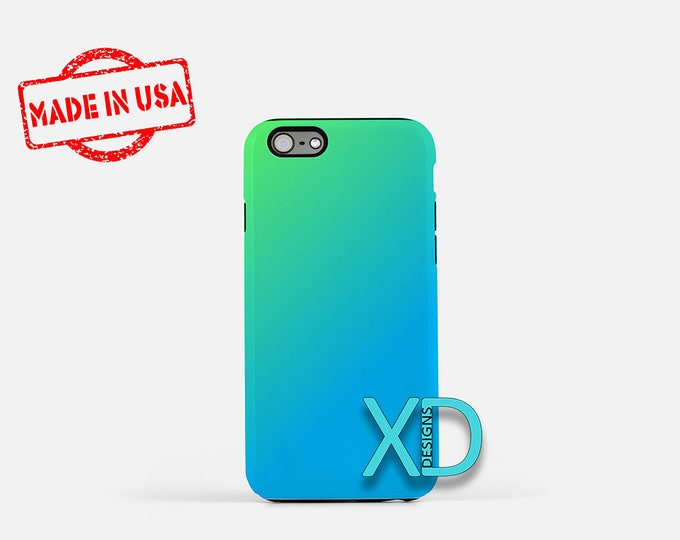 Teal Gradient iPhone Case, Blue and Green iPhone Case, iPhone 8 Case, iPhone 6s Case, iPhone 7 Case, Phone Case, iPhone X Case, SE Case