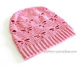 Crochet Pattern Dragonfly Slouchy Hat