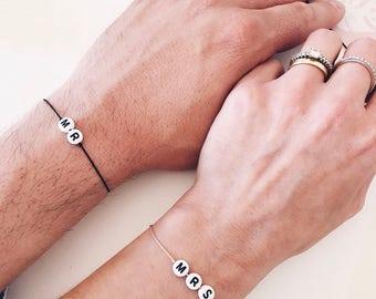 Mr & Mrs Bracelet, High quality silk bracelet, matching bracelets, string bracelet