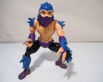 Vintage Teenage Mutant Ninja Turtles Shredder Action Figure, 1988 Playmates, TMNT