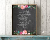 I Believe In Pink, Happy Girls Are The Prettiest, Quote, Audrey Hepburn Quote, Watercolor Flowers, Chalk Background, Wall art, Art Decor