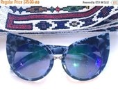 60% OFF Deadstock Grey and Black speckled Wing tip Sun Glasses