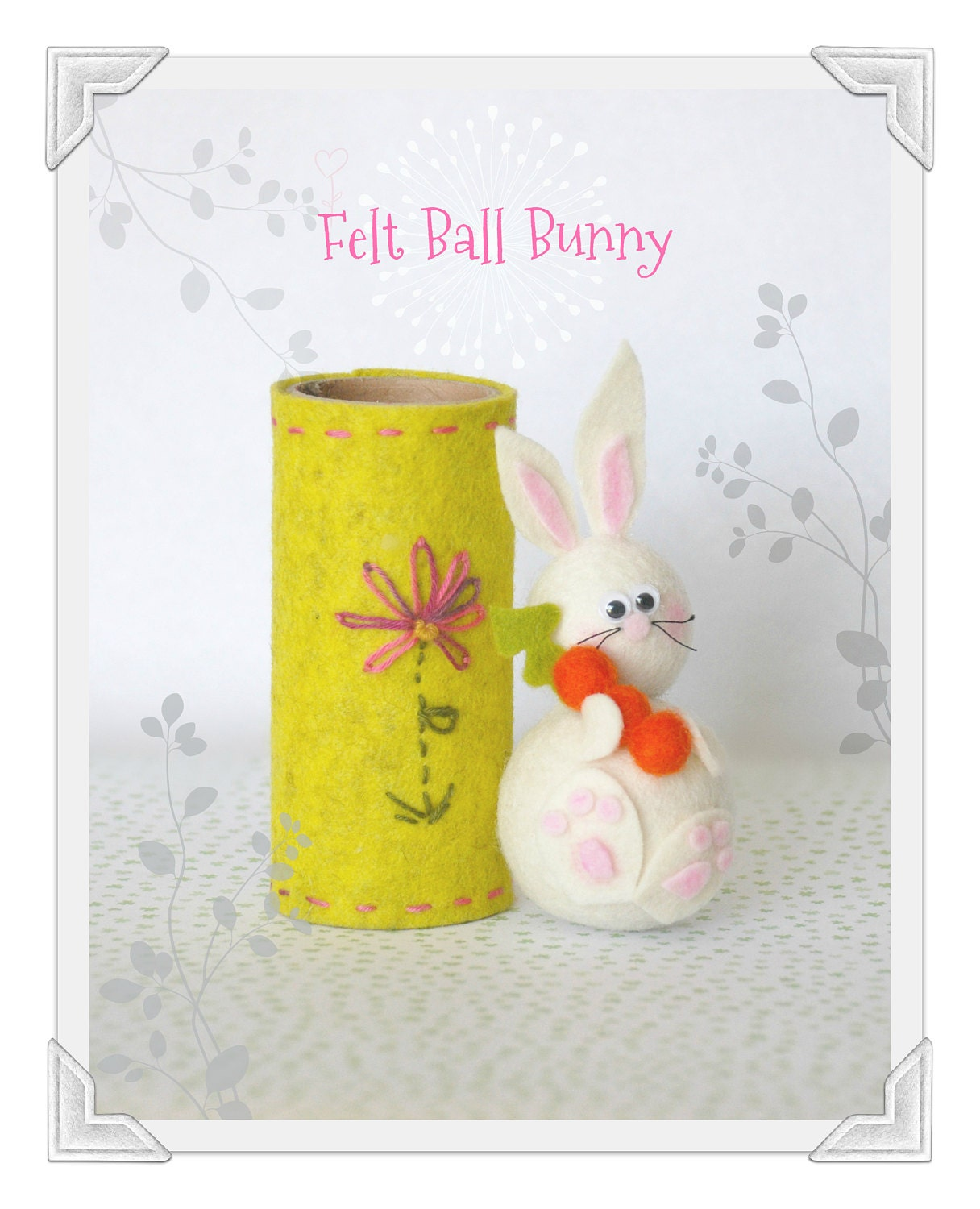 Pom Pom Bunny by Crafty Wool Felt