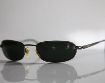 Vintage Chrome  Frame,  Dark Green Lenses.