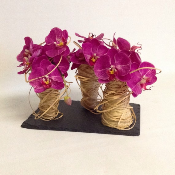 Orchid Flower Arrangement / Orchid Spiral / Artificial / Faux Flower Arrangement