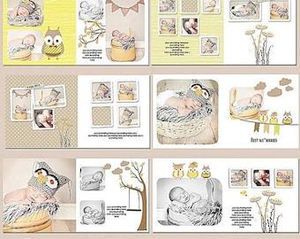 ON SALE Baby Album Templates, 10x10Photobook Templates for Adobe Photoshop, sku-Best Memories