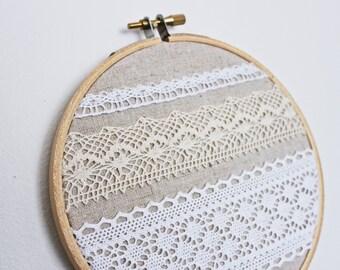 Embroidery Hoop // Wall Art // Lace Hoop // Nursery Decor // Wedding Decor