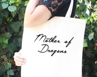 Game of Thrones Tote Bag - Daenerys Targaryen - Mother of Dragons - Khaleesi