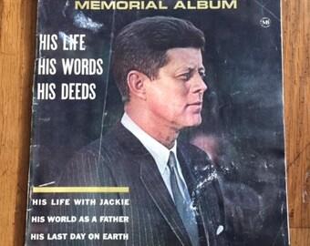 Vintage John F. Kennedy Memorial Album Magazine 1964 Vintage Periodical